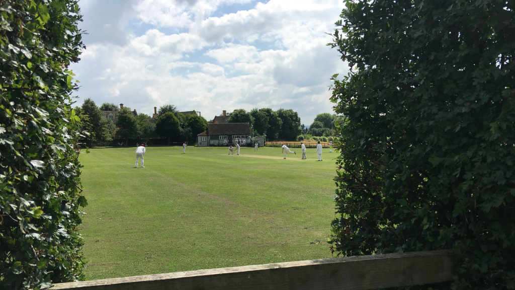 Sheepscombe Byre holiday cottage: cricket at Stanton
