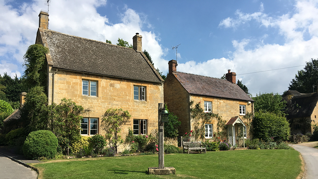 Sheepscombe Byre holiday cottage: Stanton village
