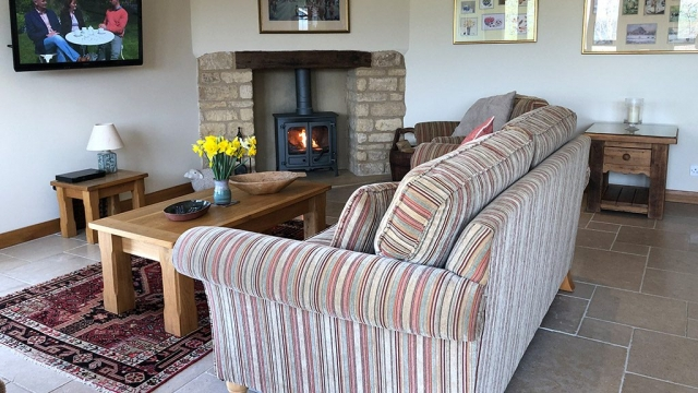 Sheepscombe Byre holiday cottage Sitting Area